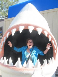 Helaine Becker, eaten by a shark!